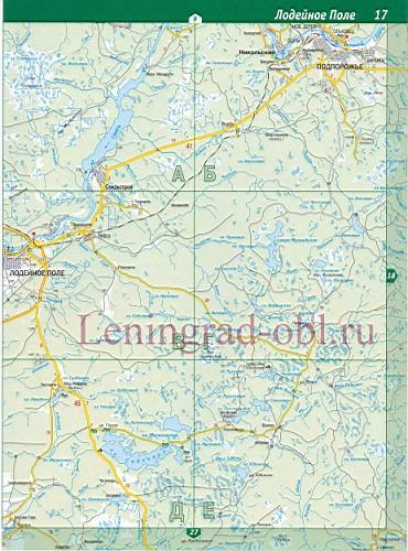 Топографическая Карта Подпорожского Района