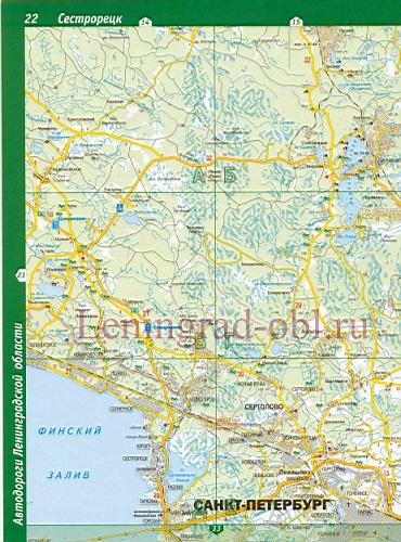Карта грибных мест Ленинградской области