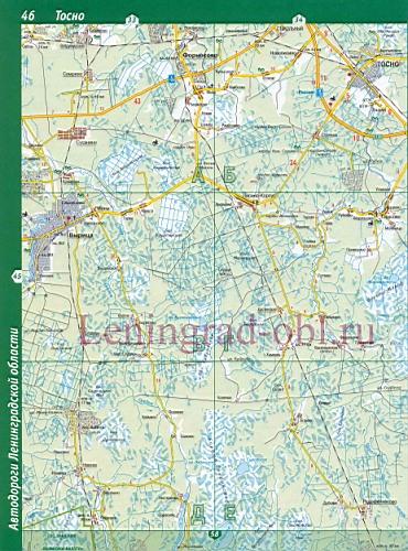 Карта Тосненского Района Подробная