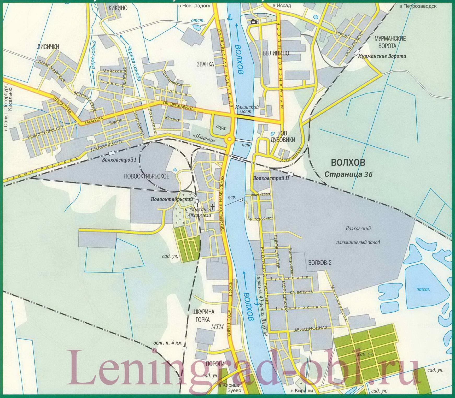 Карта Ленинградской области Топографическая карта
