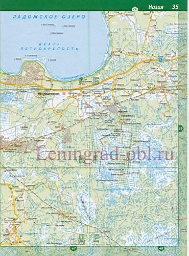 Карта Тосненского района
